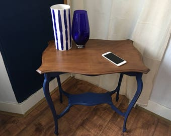 Vintage upcycled shabby chic hall, side table