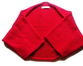 Women's knitted Merino wool cocoon cardigan/bolero/shrug/3/4 sleeves/sweater