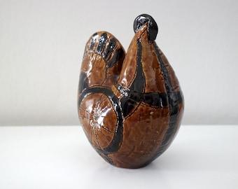 Vintage Italian Ceramic Rooster Figurine