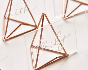 Modern Calligraphy Acrylic Escort Cards |Place Cards |Name Cards|Wedding Guest Favor|Wedding Stationery|Acrylic Place Cards|Acrylic