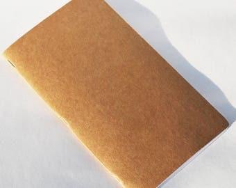 Handmade Notebooks (Blank, dotted, lined, gird) Travelers notebook