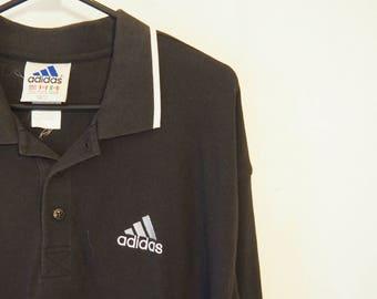 Vintage black Adidas polo - 90 s P5