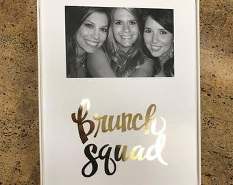 Brunch Squad Gold Metallic Script Frame
