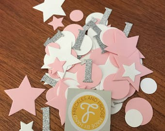 1st Birthday Table Confetti Baby Pink