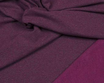 """Hilco french Terry """"sweat crop"""" violet"""