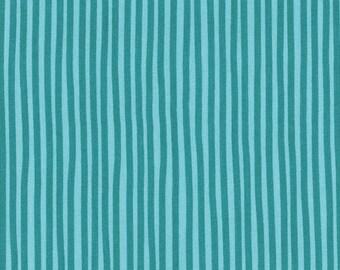 """Westphalia fabrics Young Line """"strips"""" turquoise"""