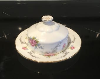 Royal Albert Tranquility Covered Butter Dish Tranquillity