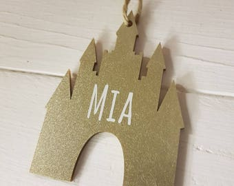 Personalised Castle Christmas Decorations