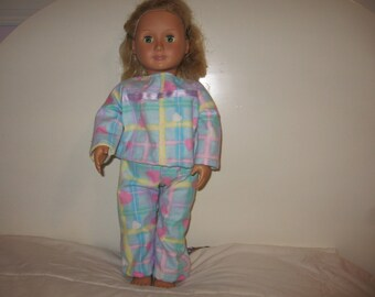 Cozy PJ's for American Girl , Journey Girl and other 18 inch Dolls