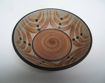 Sgrafo rare pottery bowl,Sgrafo 1976,small Klaus und Peter Müller bowl,finest collectible pottery bowl,Sgrafo handmade ceramic