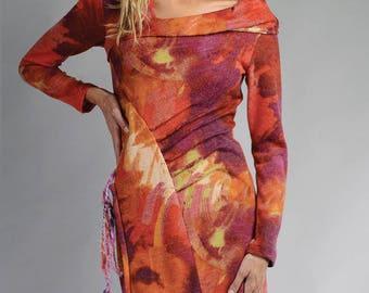 Original colorful FLORINA wool shift dress