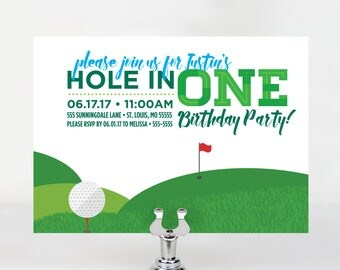 Hole in One Birthday Invitation
