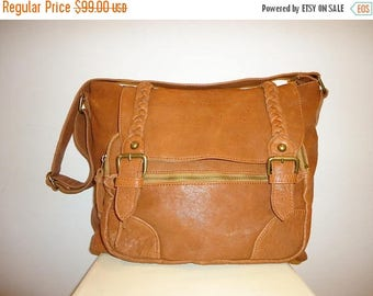 50% OFF Beautiful Vintage Cognac Leather Shoulder Bag