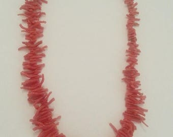 20% off antique branch coral, turn of the century necklace, the longest branches on the necklace just over over an inch long, keep or use as