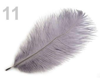 1 25 cm grey ostrich feather