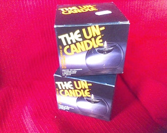 1970's The Un-Candle by Corning, No.128, 2 candles, Pyrex product, New in the Box