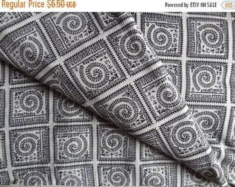 Sale Warli print Black and white cotton fabric womens clothing Indian fabric dress fabric tunic fabric Cotton robe upholstery fabric print f