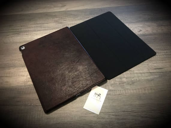 iPad Leather HARD BACK CASE made of Vegetable Italian Tanned Leather choose Device and Color