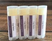 Lavender Lemongrass Lip Balm. Natural Lip Balm. Lavender Lip Balm. Lavender Balm. Lavender Essential Oil. Beeswax Lip Balm. Lip Butter.