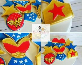 2 Dozen Wonder Woman Cookies