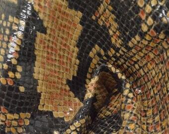 "Multi-Color Snake Leather Pig Hide 8"" x 10"" Project Piece 1 1/2 oz TA-56935 (Sec. 4,Shelf 7,B)"