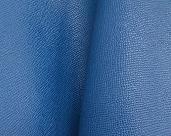 "Deep Sea Blue Divine Saffiano ""Uptown"" Leather Cow Hide 8""x 10"" Pre-cut 3-3 1/2oz  DE-63899 (Sec. 4,Shelf 6,B)"