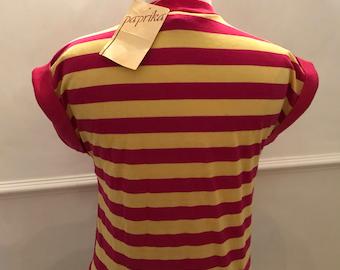 1970's Vintage Original paprika striped top