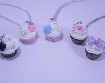 Bow Cupcake Necklace