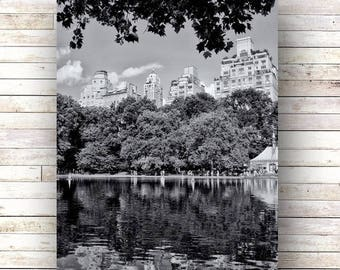 New York Art - WALK In The PARK- Central Park - Architecture - Photography - Wood art panels- black and white photography