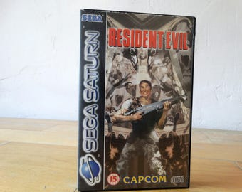 Resident Evil, Sega Saturn Game, Video Game, Sega Saturn Console, Sega Saturn Game, Sega Console Game, Old Console Game, Sega Saturn Disc