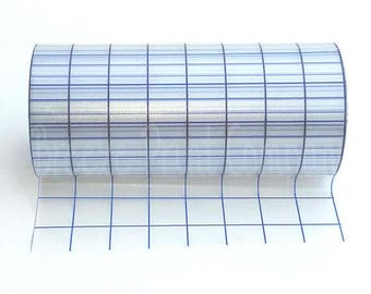 Transfer tape for adhesive vinyl, clear with blue grid, 8 inch x 50 foot roll, medium tack mask, transfer paper, vinyl supplies, decal tape