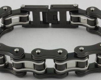 8.5 inch stainless steel bike chain bracelet motorcycle rock harley