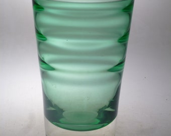 Czech art glass vase Wunsch Novy Bor
