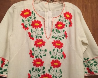 Kaftan Caftan Embroidered Gown Hippy Dress Small