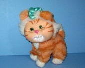 1996 Mattel Cabbage Patch Kids, Adopt 'N Luv Pets, Orange Stripe Kitty Cat , Very Good Condition, Adorable Stuffed Kitty Cat,