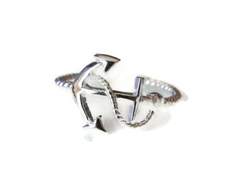 Silver Anchor Toe Ring - 925 Sterling Silver Anchor Toe Ring - Silver Beach Jewelry