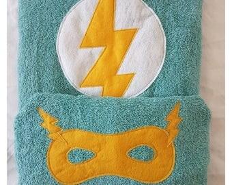 Super Hero hooded towel