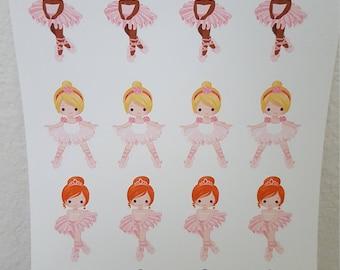 ballerina planner sticker, ballerina sticker, tutu planner sticker, ballet planner sticker, ballerina, ballet