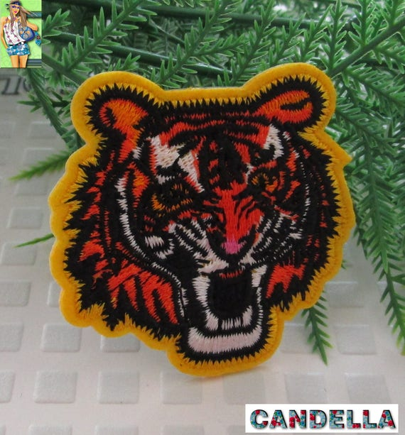 Patch Badge Patch Embroidered Pattern Iron Cloth On Patch Tiger