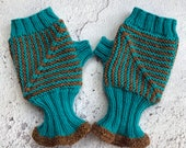 Modular Mitts Knitting Pattern, mitten knitting pattern, knitting patterns for women, mitten knits, hand knitting, digital download, gloves