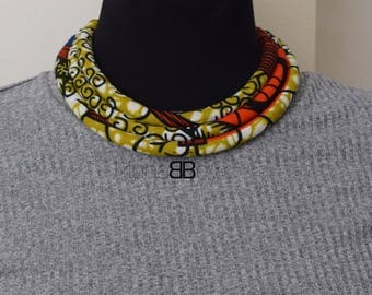 African print necklace, ankara necklace, bib necklace, wax print, collier africain, birthday gift, african necklace, afro chic