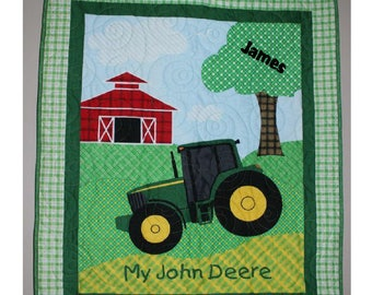 My John Deere Baby Quilt (with name)