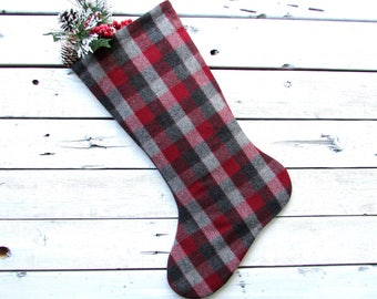 Plaid Christmas Stocking Plaid Christmas Stockings Rustic