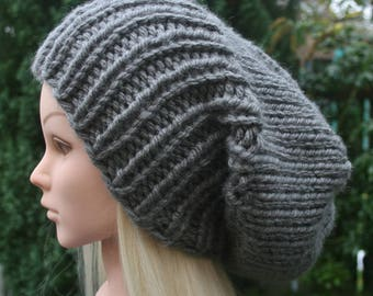 Men's Slouchy Beanie Women's Slouchy Beanie CHOOSE COLOUR Slouch hat Chunky knit winter hat Gift for Him Gift for Her Knit Accessories