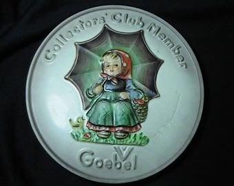 Vintage 1978 Goebel Hummel Collector's Club Member Plaque Special Edition #2