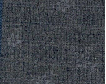 Gray fabric with flowers