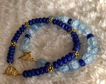 Blue Frost Stack Bracelets (Two)