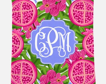 Monogrammed Minky Blanket | Personalized Gift | Monogrammed Blanket | Gift for Her