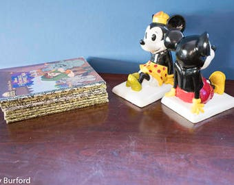 Georgeous Collectable Micky and Minnie book ends
