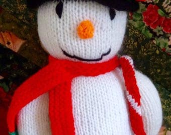 Hand knitted Snowman